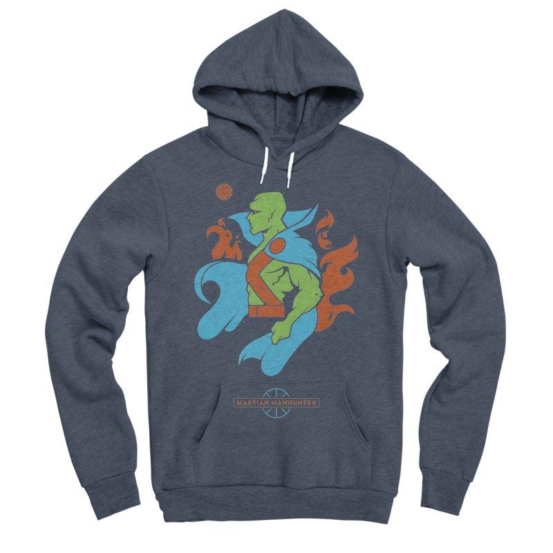 Martian Manhunter - DC Superhero Profile Men's Sponge Fleece Pullover Hoody by daab Creative's Artist Shop