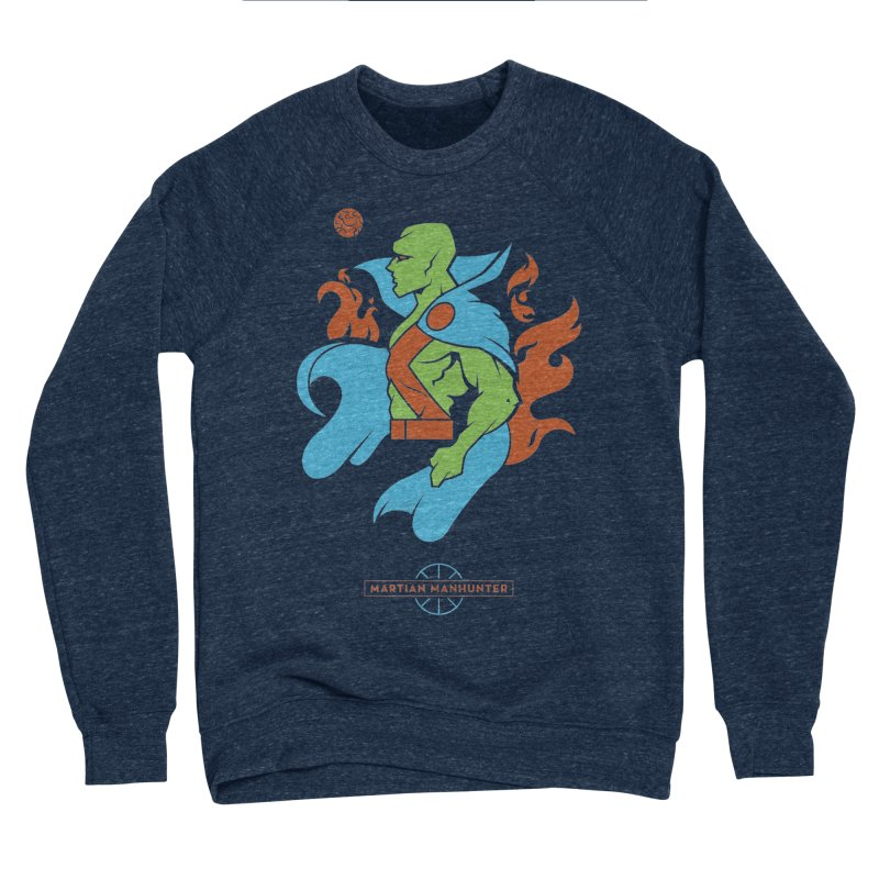 Martian Manhunter - DC Superhero Profile Women's Sponge Fleece Sweatshirt by daab Creative's Artist Shop