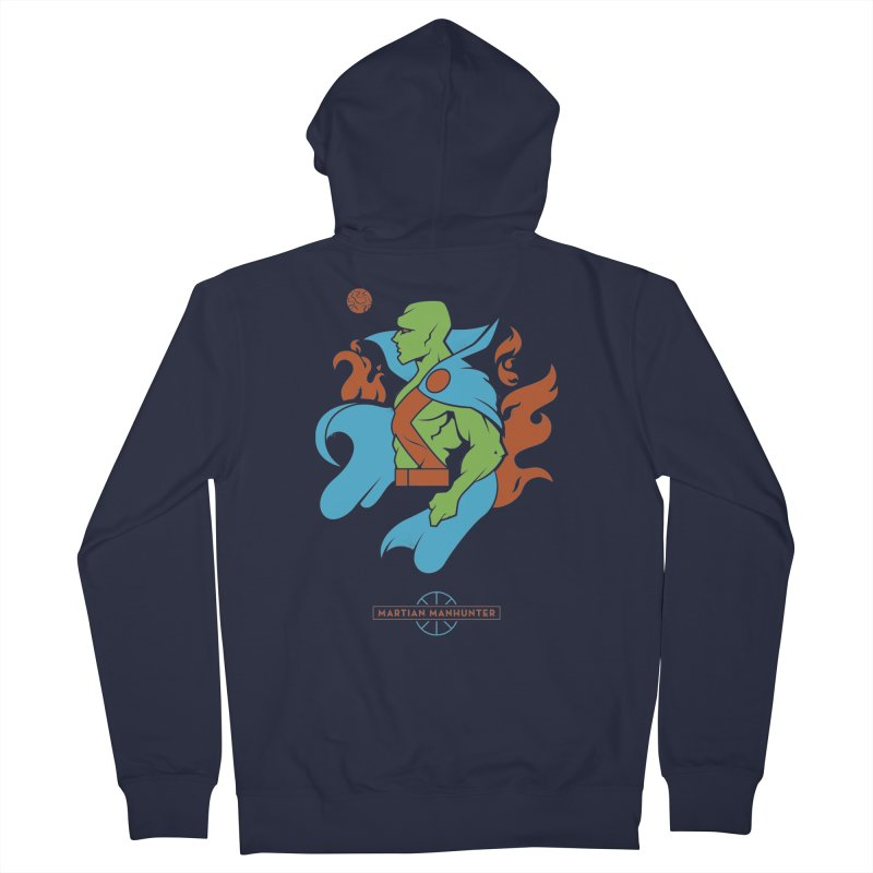 Martian Manhunter - DC Superhero Profile Men's French Terry Zip-Up Hoody by daab Creative's Artist Shop
