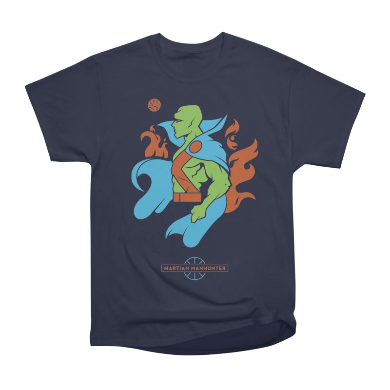 Martian Manhunter - DC Superhero Profile Men's Heavyweight T-Shirt by daab Creative's Artist Shop