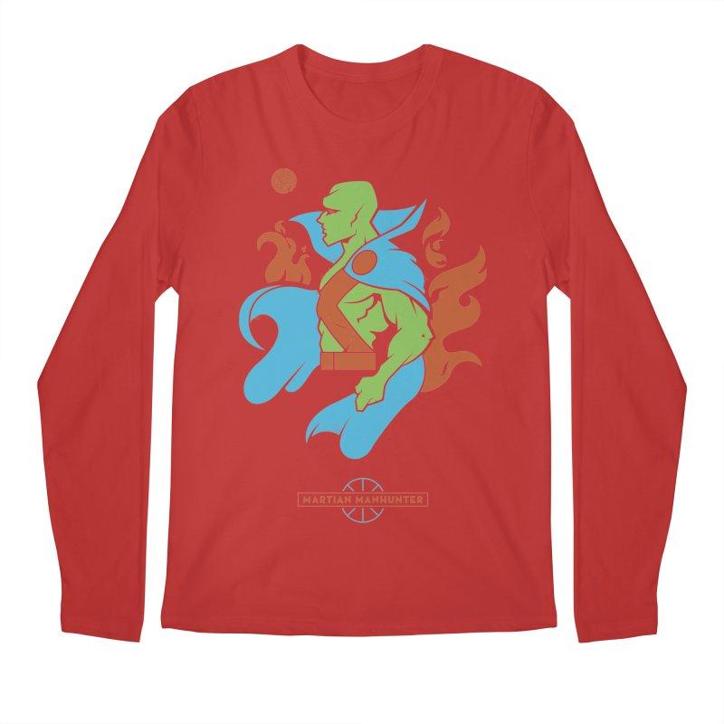 Martian Manhunter - DC Superhero Profile Men's Regular Longsleeve T-Shirt by daab Creative's Artist Shop