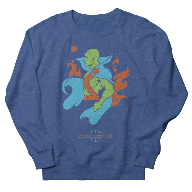 Martian Manhunter - DC Superhero Profile Men's Sweatshirt by daab Creative's Artist Shop