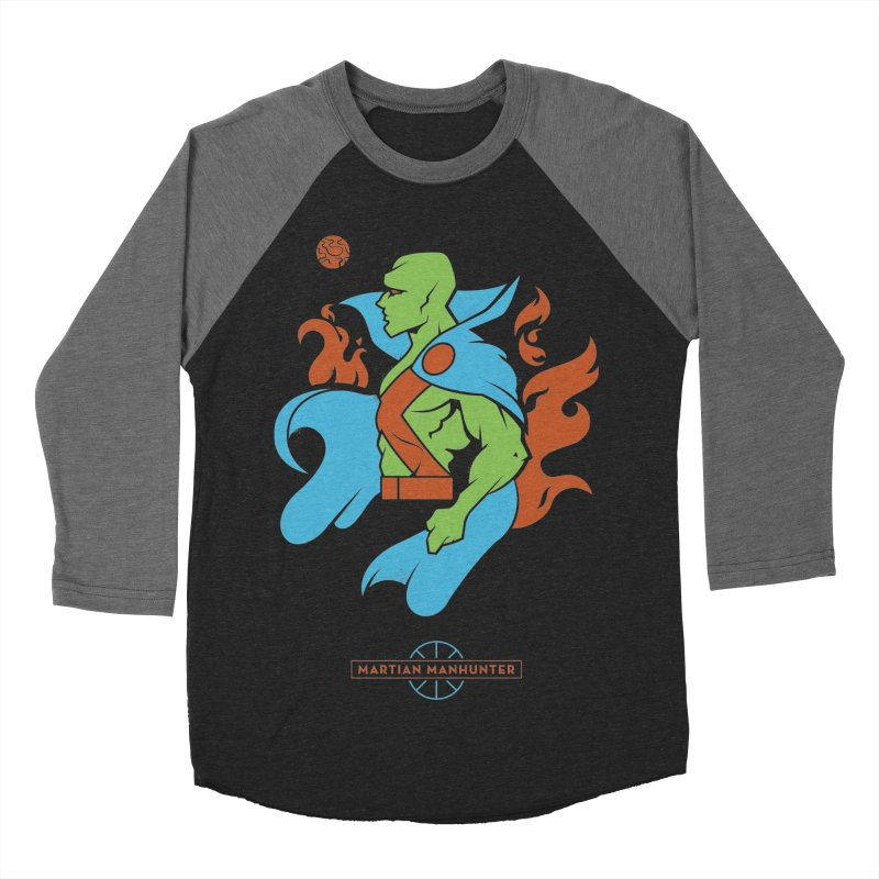 Martian Manhunter - DC Superhero Profile Women's Baseball Triblend Longsleeve T-Shirt by daab Creative's Artist Shop