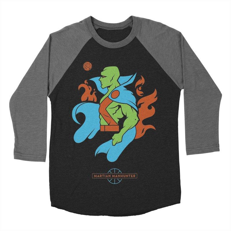 Martian Manhunter - DC Superhero Profile Men's Baseball Triblend Longsleeve T-Shirt by daab Creative's Artist Shop