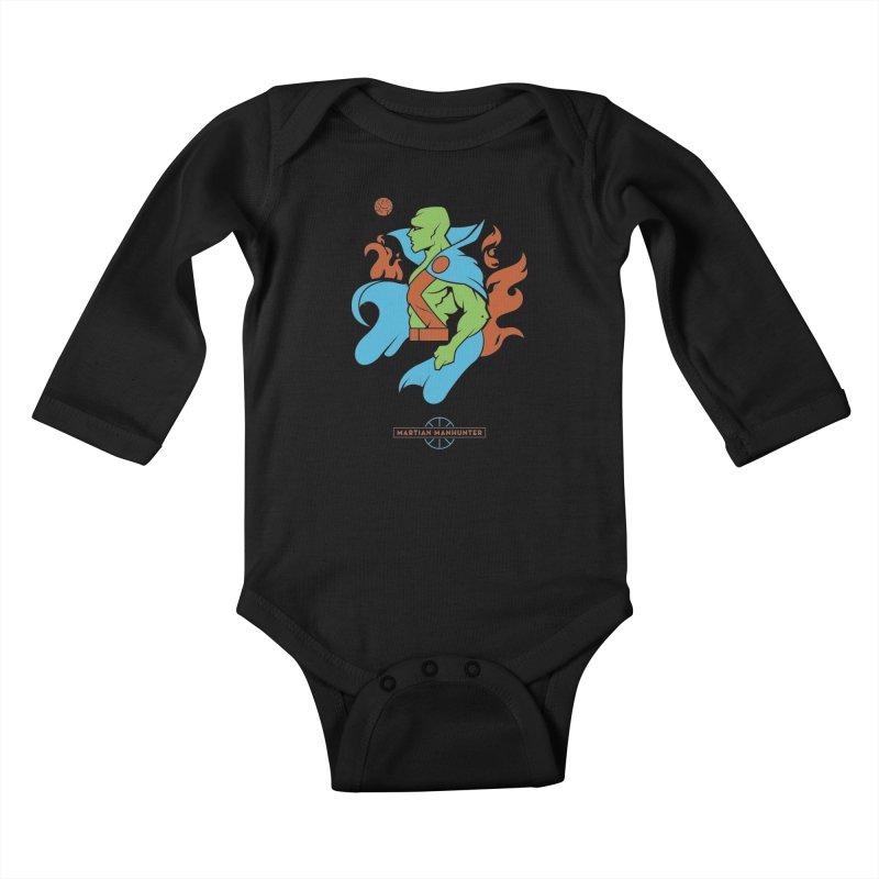 Martian Manhunter - DC Superhero Profile Kids Baby Longsleeve Bodysuit by daab Creative's Artist Shop