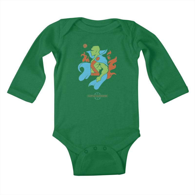 Martian Manhunter - DC Superhero Profile Kids Baby Longsleeve Bodysuit by daab Creative's Artist Shop