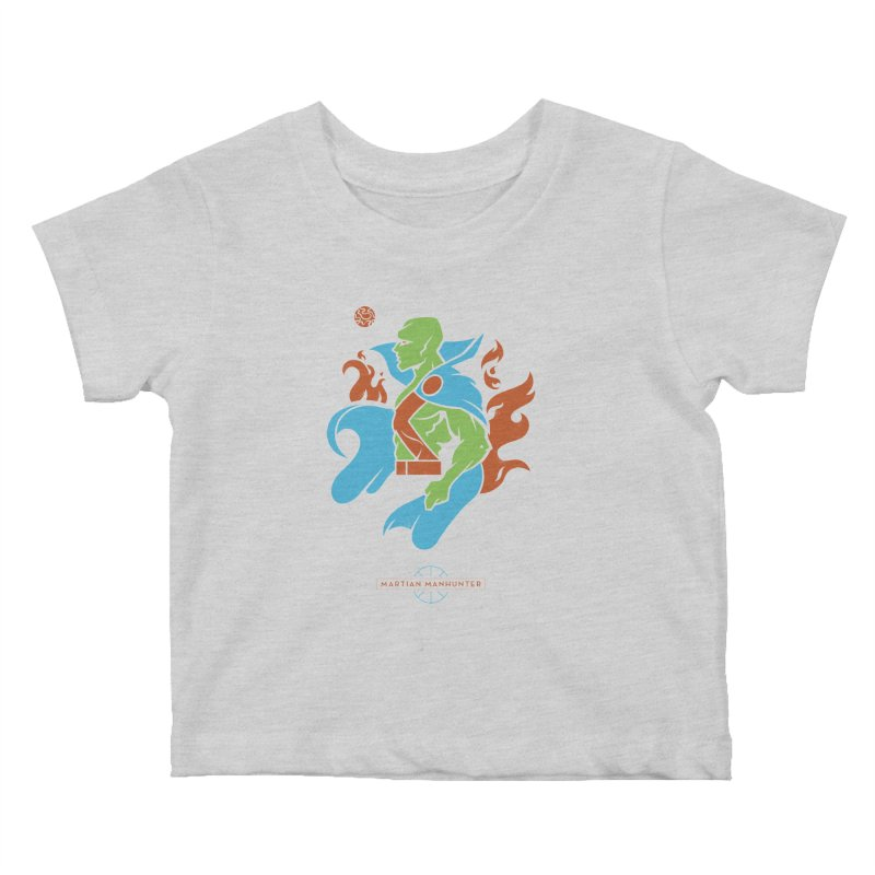 Martian Manhunter - DC Superhero Profile Kids Baby T-Shirt by daab Creative's Artist Shop