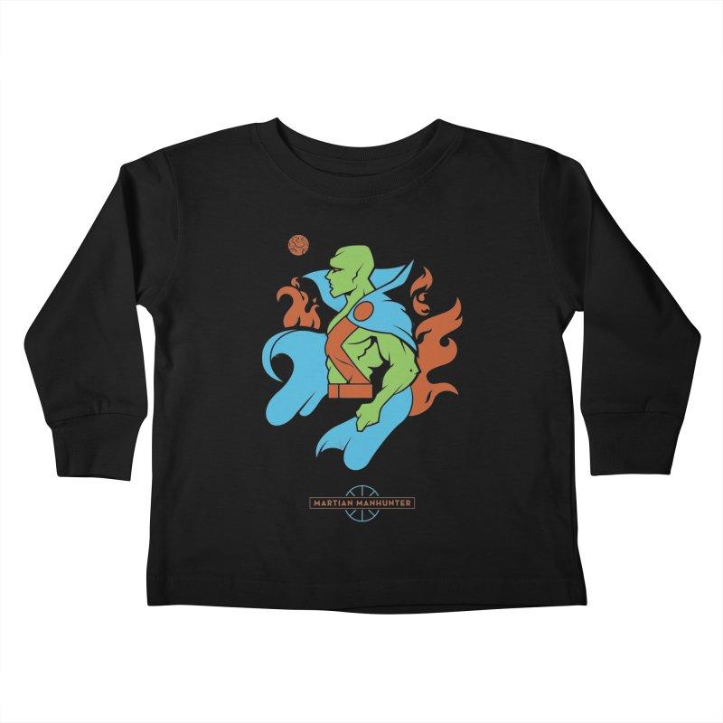 Martian Manhunter - DC Superhero Profile Kids Toddler Longsleeve T-Shirt by daab Creative's Artist Shop