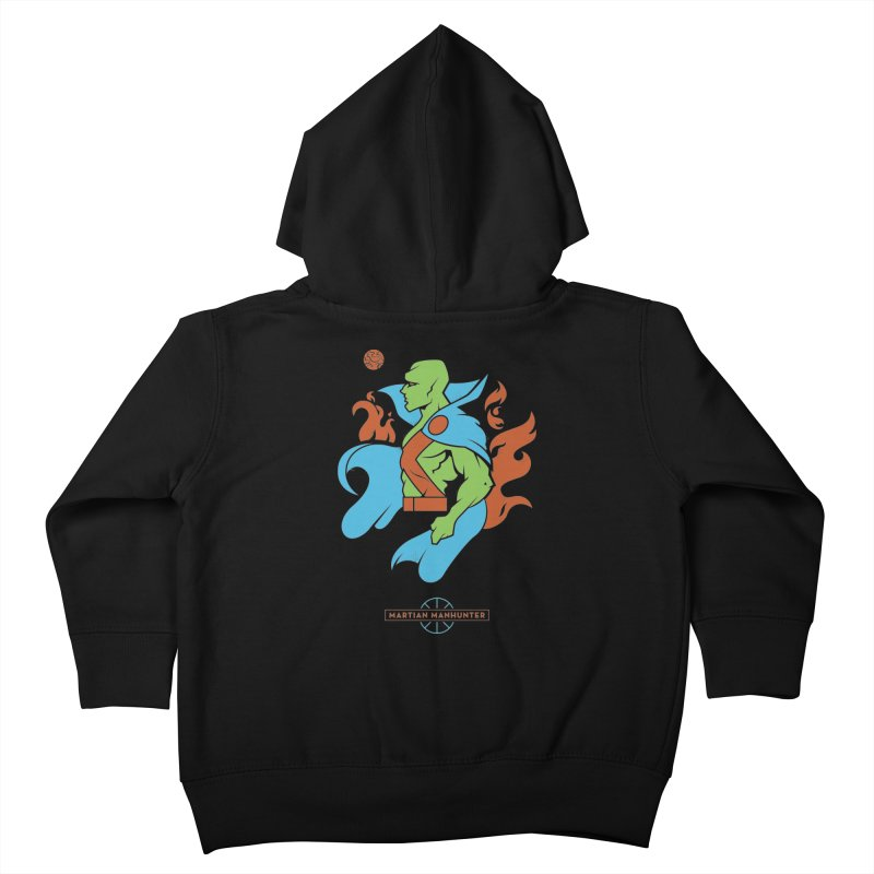 Martian Manhunter - DC Superhero Profile Kids Toddler Zip-Up Hoody by daab Creative's Artist Shop