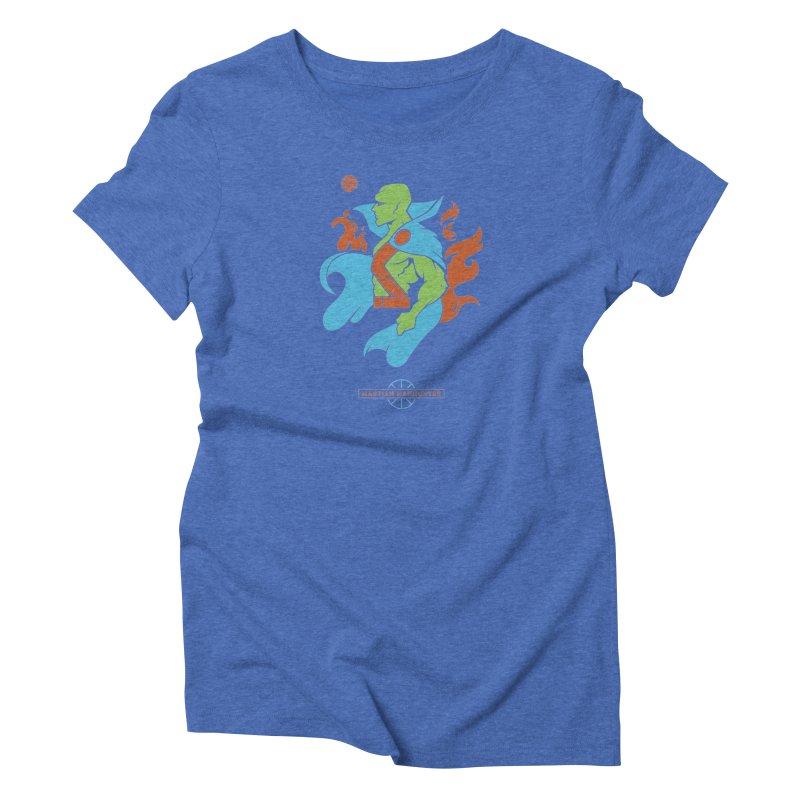 Martian Manhunter - DC Superhero Profile Women's Triblend T-Shirt by daab Creative's Artist Shop