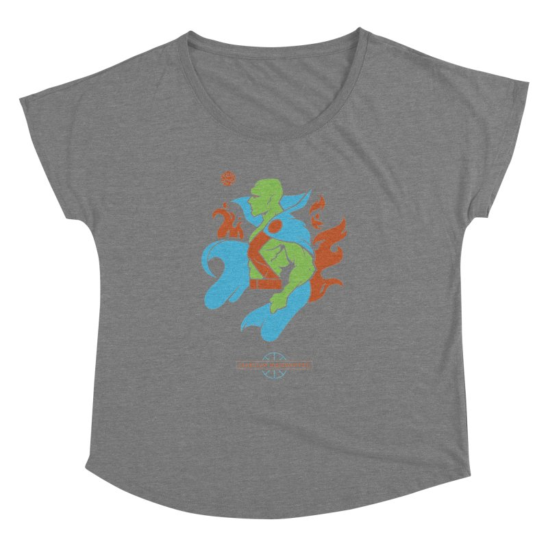 Martian Manhunter - DC Superhero Profile Women's Scoop Neck by daab Creative's Artist Shop