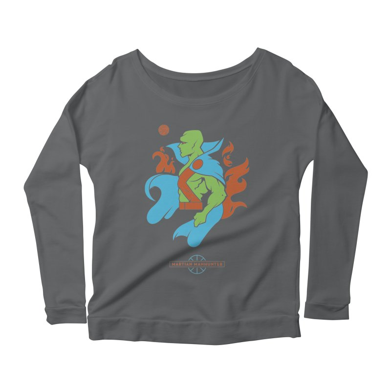 Martian Manhunter - DC Superhero Profile Women's Scoop Neck Longsleeve T-Shirt by daab Creative's Artist Shop