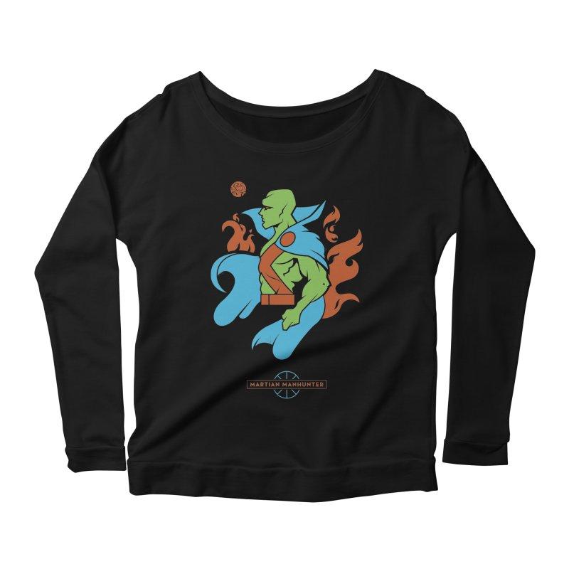 Martian Manhunter - DC Superhero Profile Women's Scoop Neck Longsleeve T-Shirt by daab Creative's Artist Shop