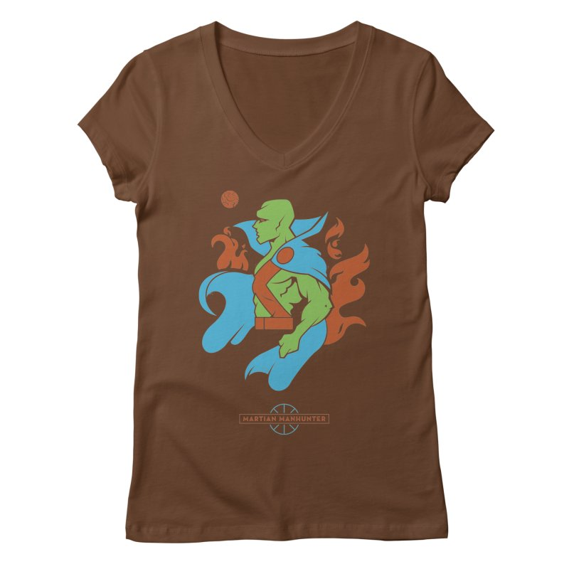 Martian Manhunter - DC Superhero Profile Women's V-Neck by daab Creative's Artist Shop
