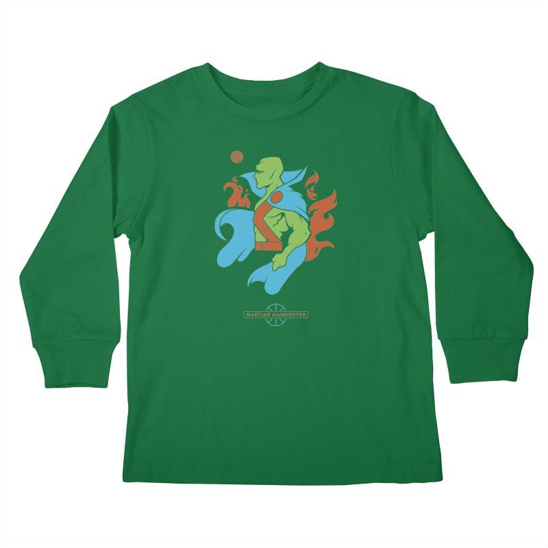 Martian Manhunter - DC Superhero Profile Kids Longsleeve T-Shirt by daab Creative's Artist Shop