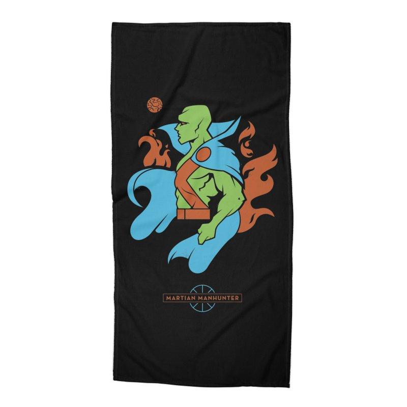 Martian Manhunter - DC Superhero Profile Accessories Beach Towel by daab Creative's Artist Shop