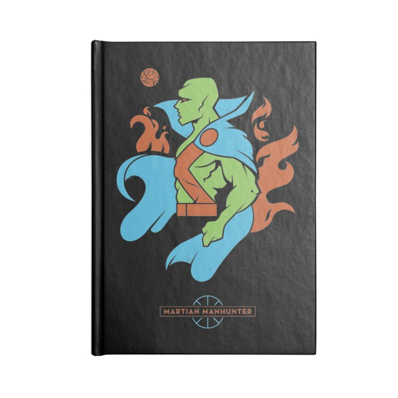 Martian Manhunter - DC Superhero Profile Accessories Lined Journal Notebook by daab Creative's Artist Shop