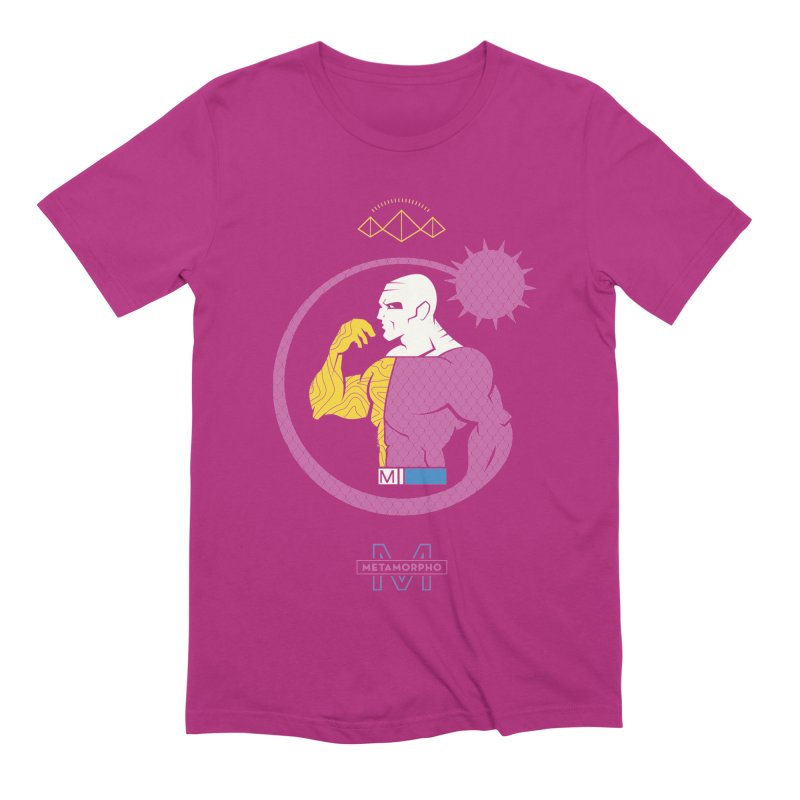 Metamorpho - DC Superhero Profiles Men's Extra Soft T-Shirt by daab Creative's Artist Shop