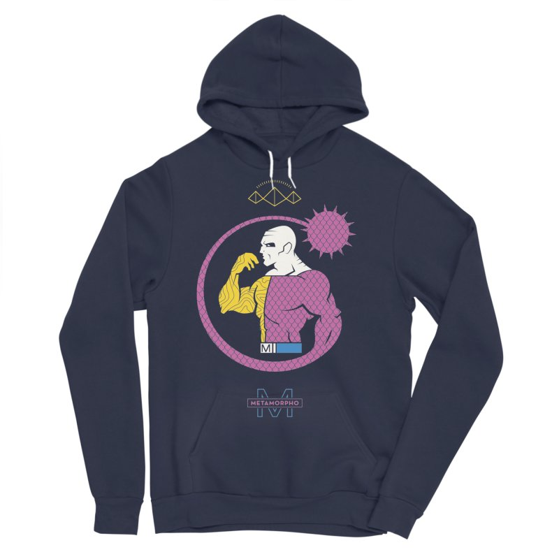 Metamorpho - DC Superhero Profiles Men's Sponge Fleece Pullover Hoody by daab Creative's Artist Shop