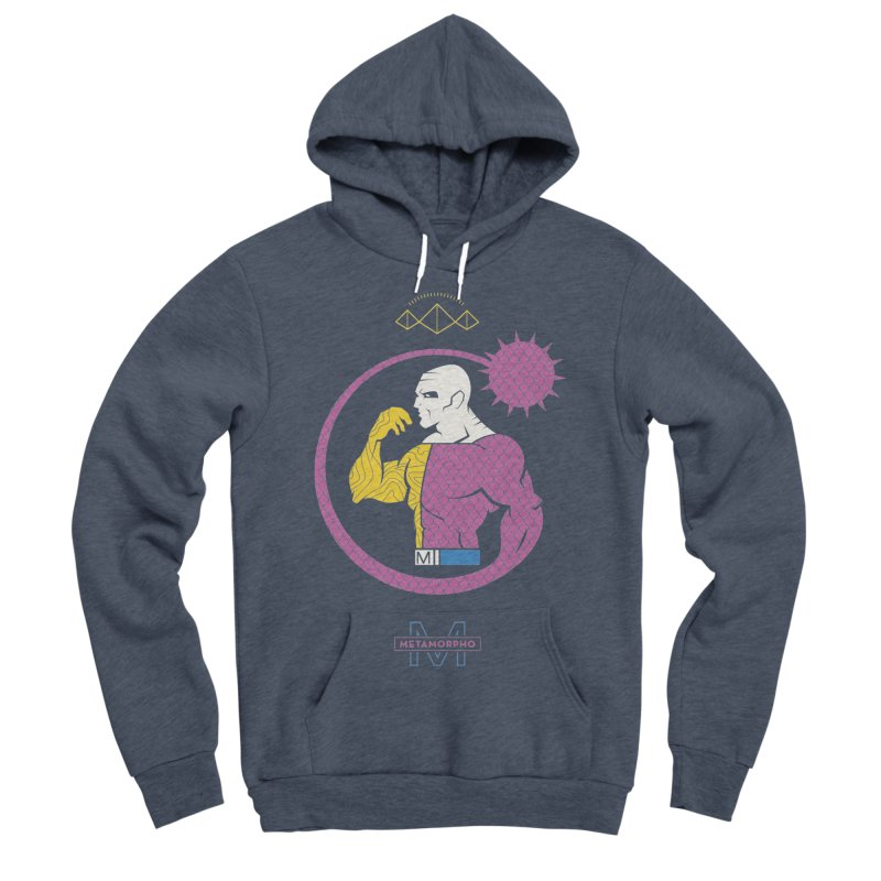 Metamorpho - DC Superhero Profiles Men's Sponge Fleece Pullover Hoody by daab Creative's Artist Shop
