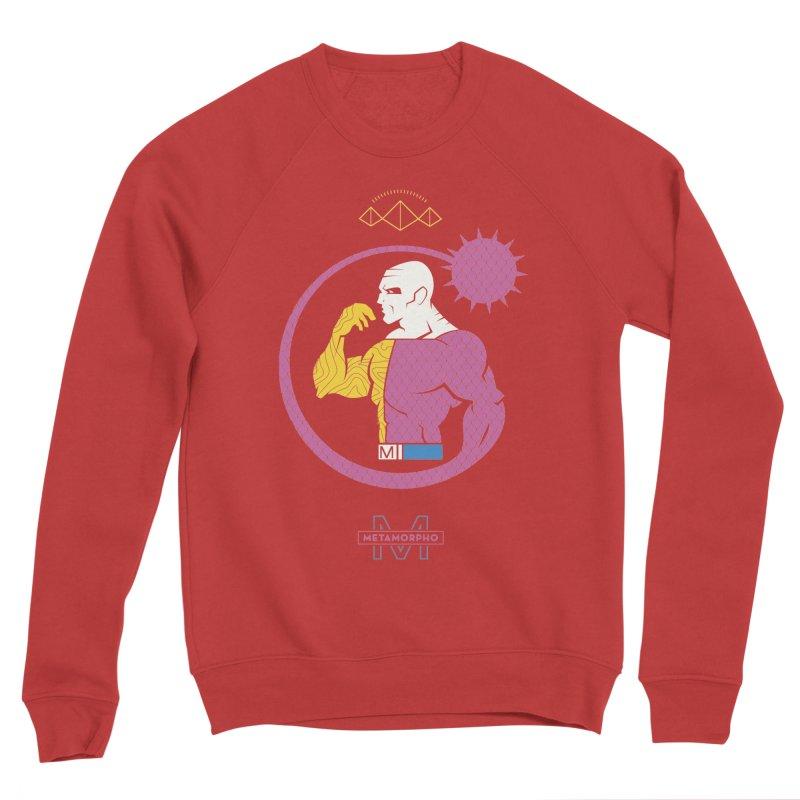 Metamorpho - DC Superhero Profiles Men's Sponge Fleece Sweatshirt by daab Creative's Artist Shop