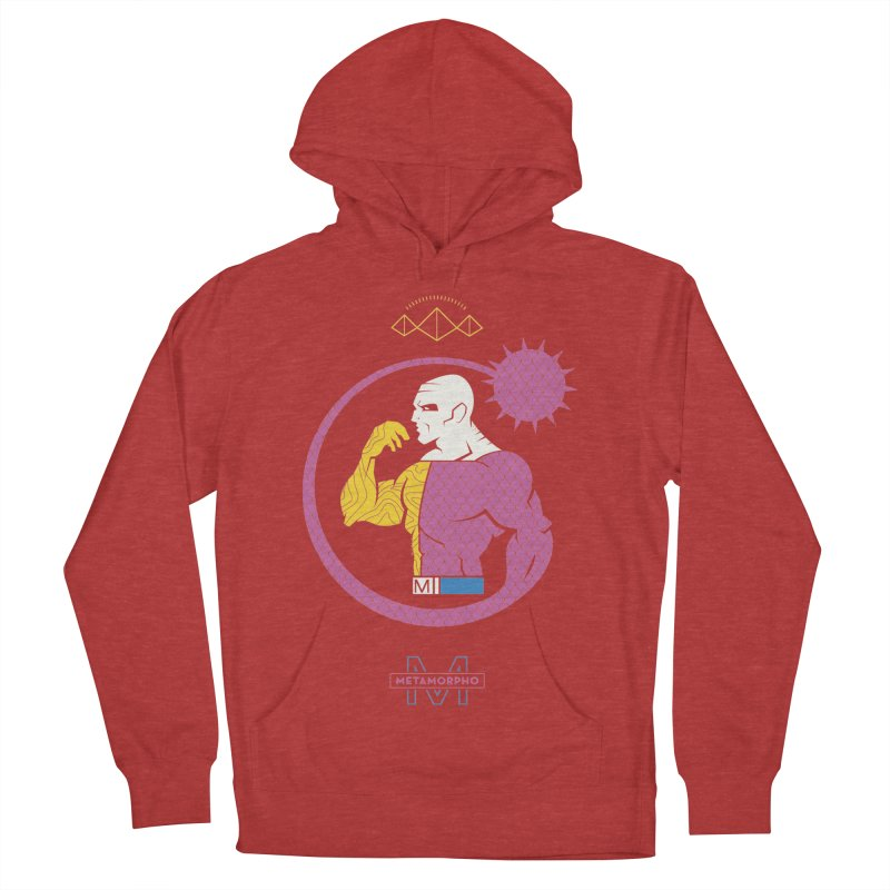 Metamorpho - DC Superhero Profiles Men's French Terry Pullover Hoody by daab Creative's Artist Shop