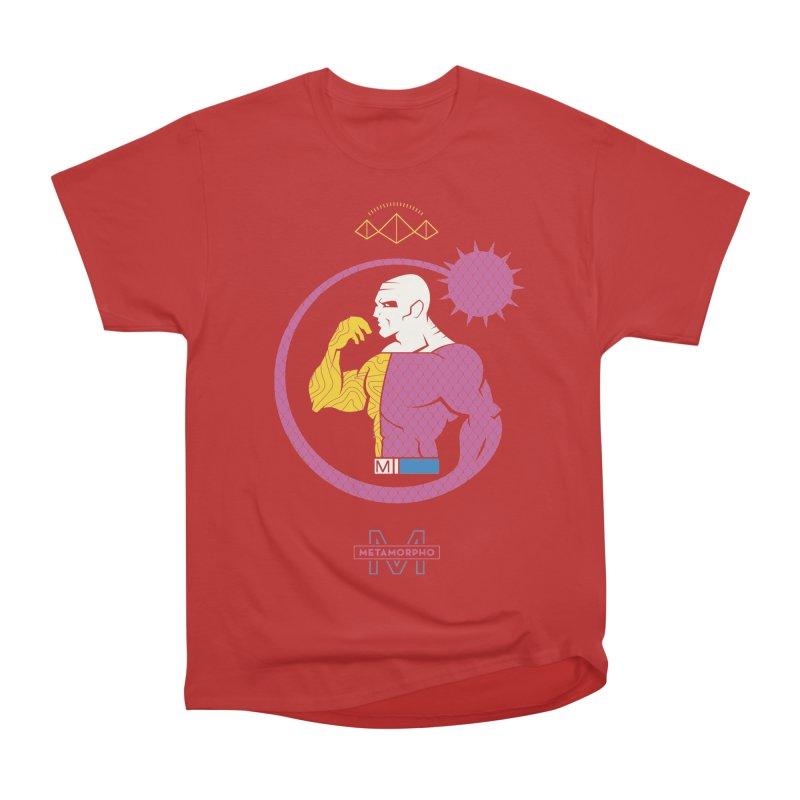Metamorpho - DC Superhero Profiles Men's Heavyweight T-Shirt by daab Creative's Artist Shop
