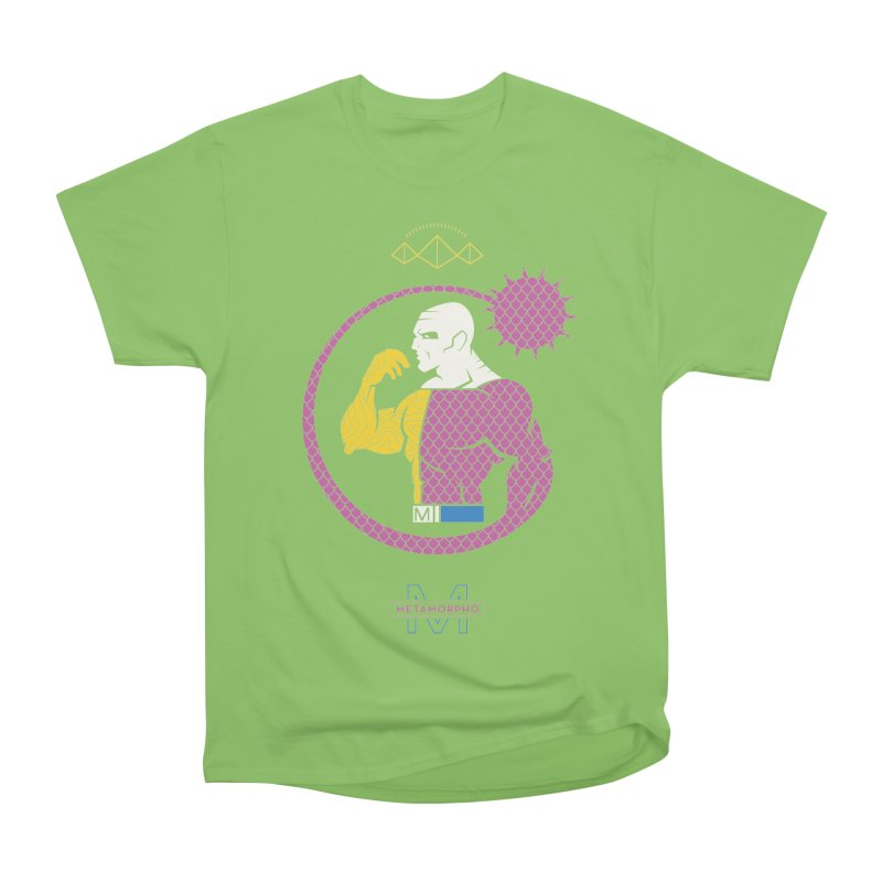 Metamorpho - DC Superhero Profiles Women's Heavyweight Unisex T-Shirt by daab Creative's Artist Shop