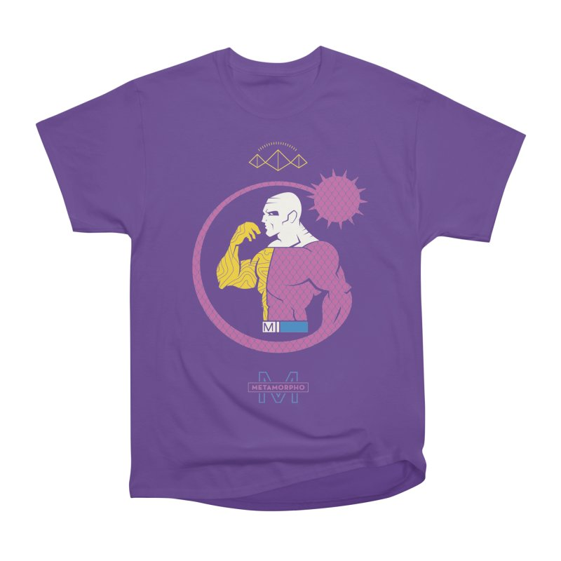 Metamorpho - DC Superhero Profiles Men's Heavyweight T-Shirt by daab Creative's Artist Shop
