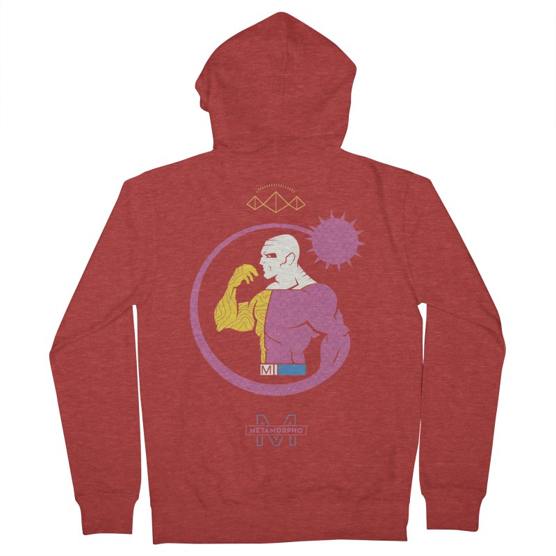 Metamorpho - DC Superhero Profiles Women's French Terry Zip-Up Hoody by daab Creative's Artist Shop