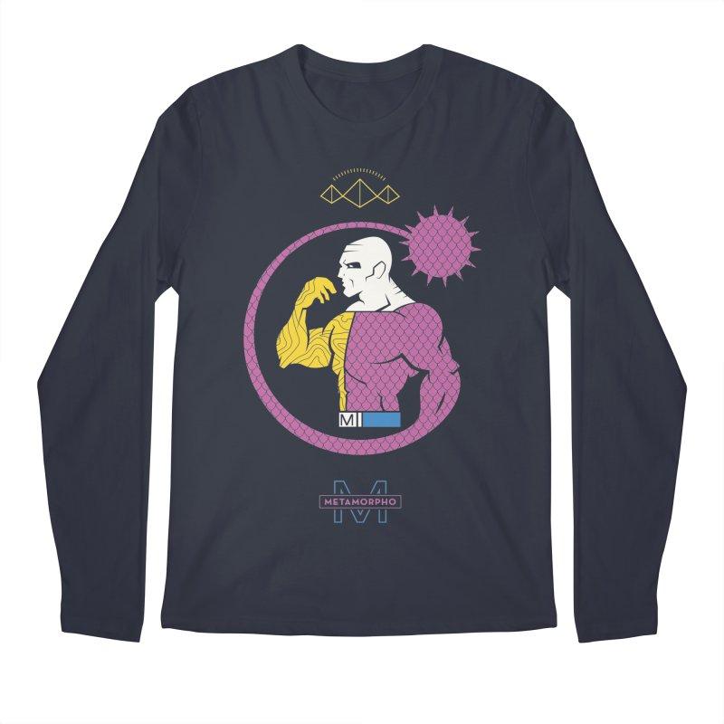 Metamorpho - DC Superhero Profiles Men's Regular Longsleeve T-Shirt by daab Creative's Artist Shop