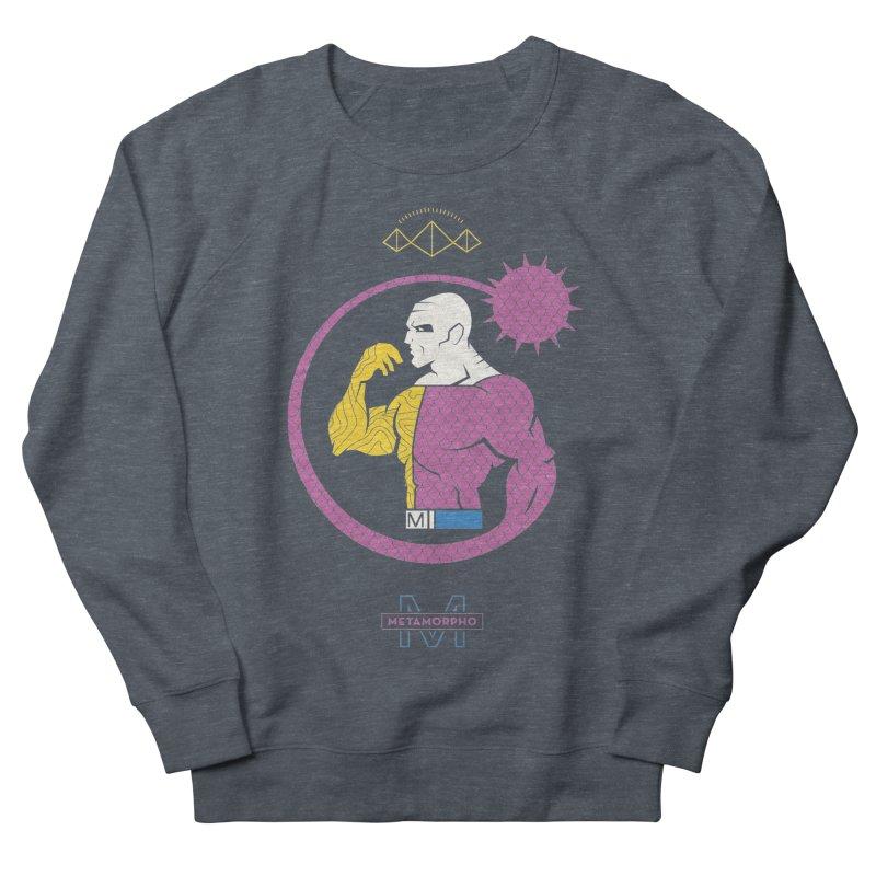 Metamorpho - DC Superhero Profiles Men's French Terry Sweatshirt by daab Creative's Artist Shop