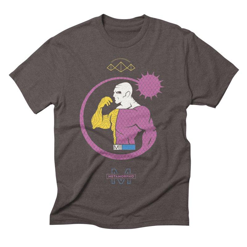 Metamorpho - DC Superhero Profiles Men's Triblend T-Shirt by daab Creative's Artist Shop