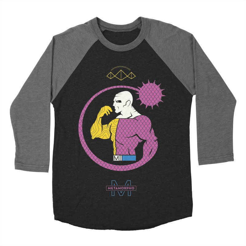 Metamorpho - DC Superhero Profiles Men's Baseball Triblend Longsleeve T-Shirt by daab Creative's Artist Shop
