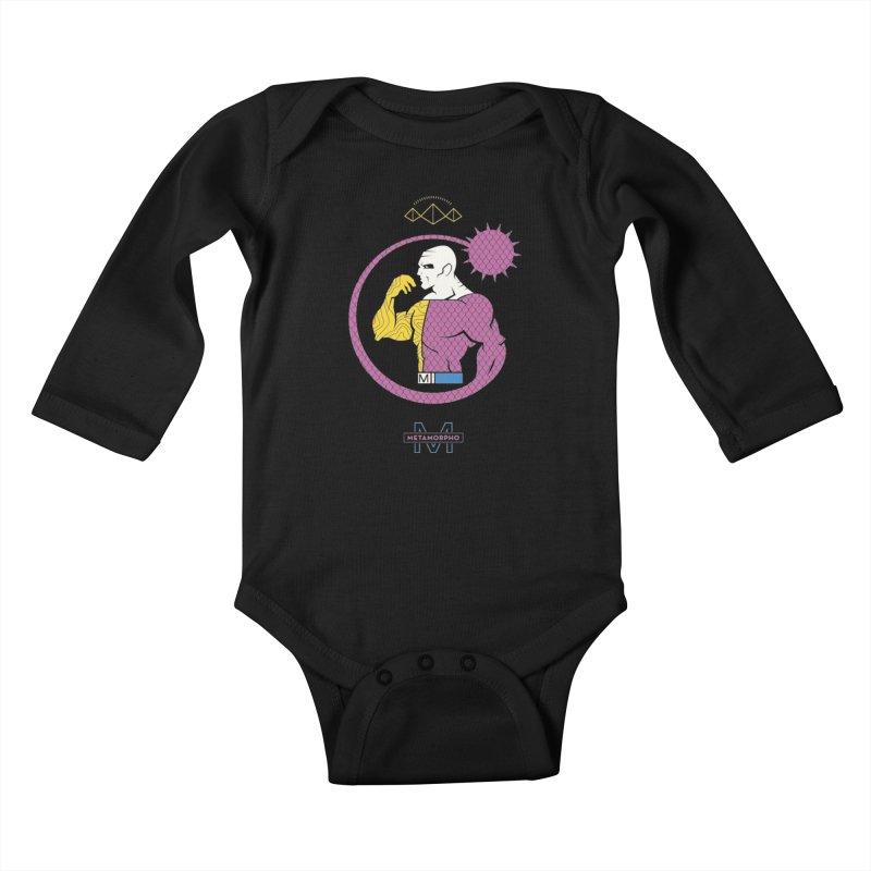 Metamorpho - DC Superhero Profiles Kids Baby Longsleeve Bodysuit by daab Creative's Artist Shop