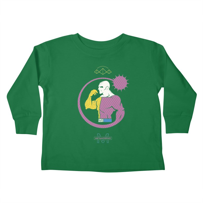 Metamorpho - DC Superhero Profiles Kids Toddler Longsleeve T-Shirt by daab Creative's Artist Shop