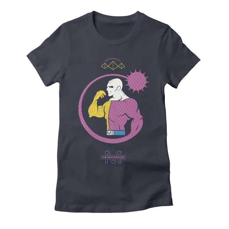 Metamorpho - DC Superhero Profiles Women's Fitted T-Shirt by daab Creative's Artist Shop
