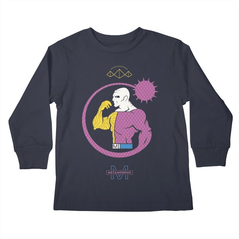 Metamorpho - DC Superhero Profiles Kids Longsleeve T-Shirt by daab Creative's Artist Shop