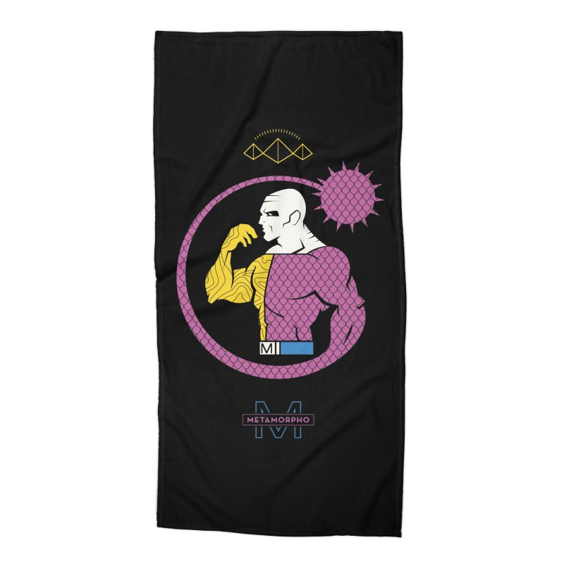 Metamorpho - DC Superhero Profiles Accessories Beach Towel by daab Creative's Artist Shop