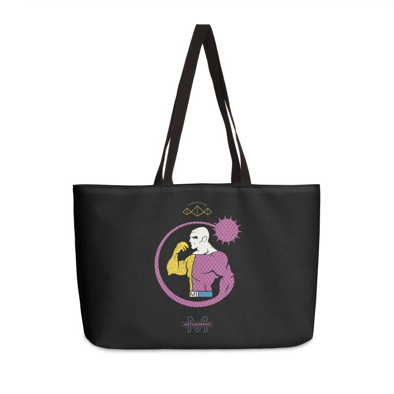 Metamorpho - DC Superhero Profiles Accessories Weekender Bag Bag by daab Creative's Artist Shop
