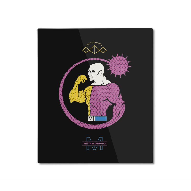 Metamorpho - DC Superhero Profiles Home Mounted Aluminum Print by daab Creative's Artist Shop