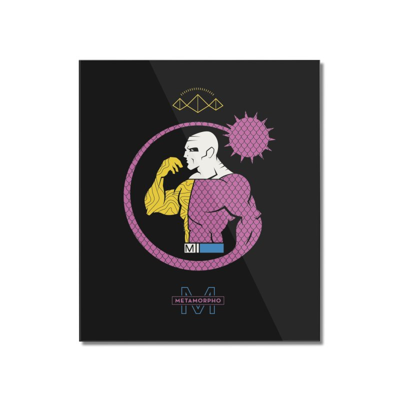 Metamorpho - DC Superhero Profiles Home Mounted Acrylic Print by daab Creative's Artist Shop