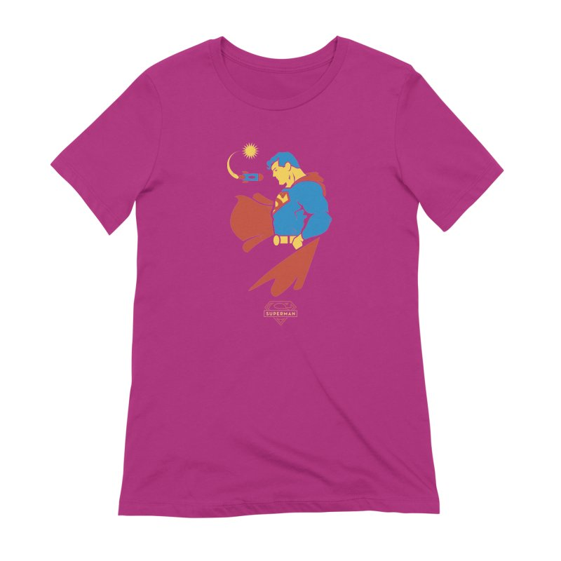 Superman - DC Superhero Profiles Women's Extra Soft T-Shirt by daab Creative's Artist Shop