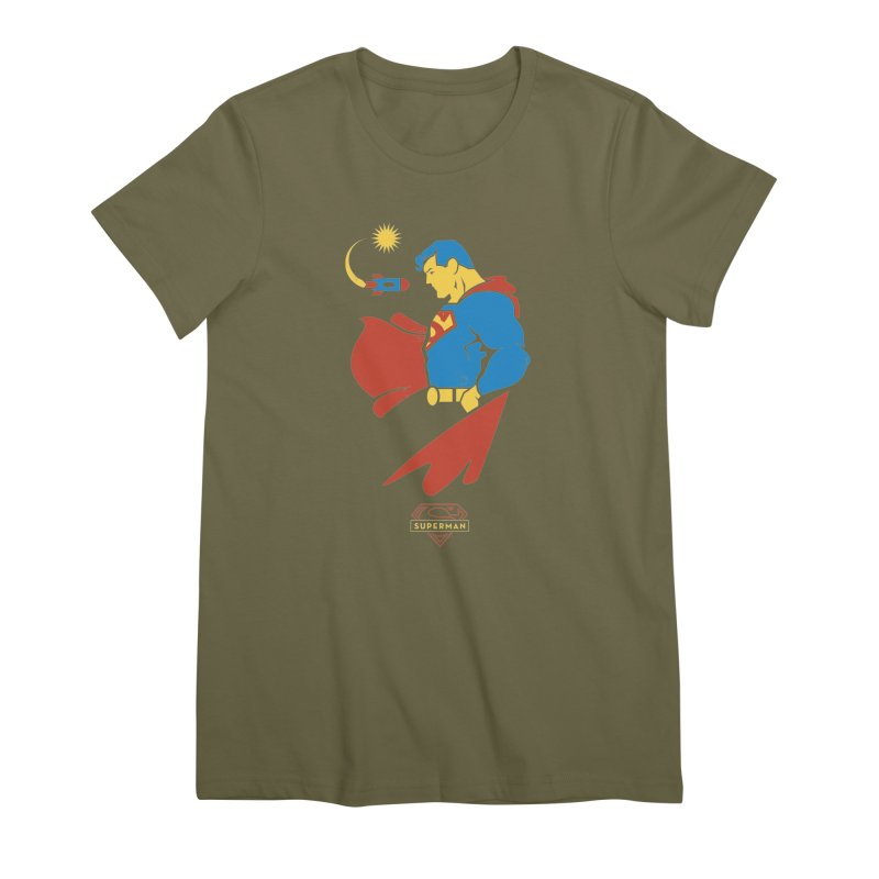 Superman - DC Superhero Profiles Women's Premium T-Shirt by daab Creative's Artist Shop