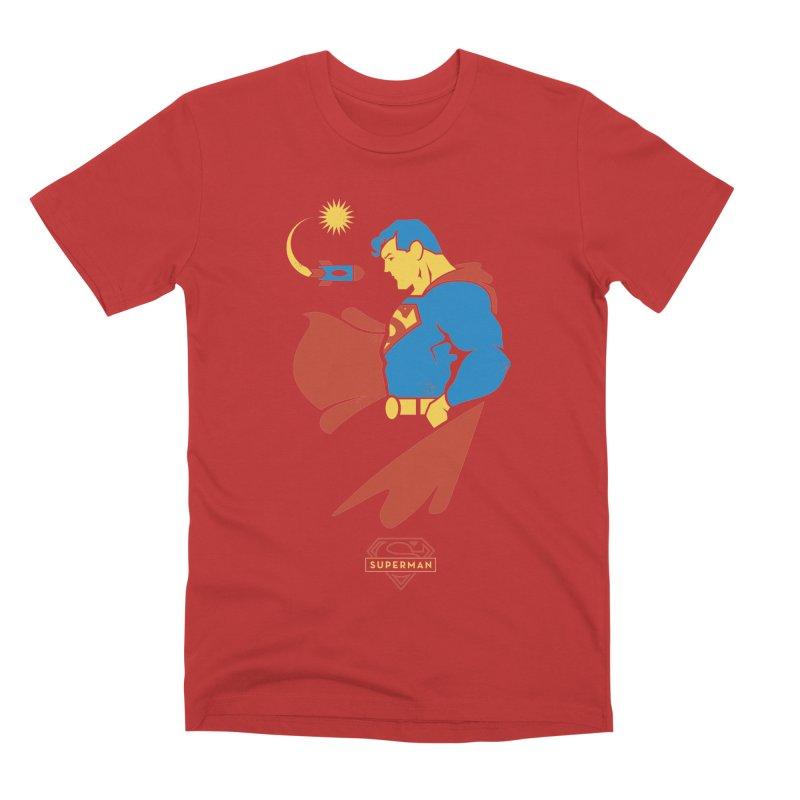 Superman - DC Superhero Profiles Men's Premium T-Shirt by daab Creative's Artist Shop