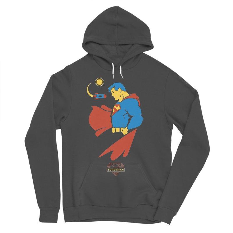 Superman - DC Superhero Profiles Women's Sponge Fleece Pullover Hoody by daab Creative's Artist Shop