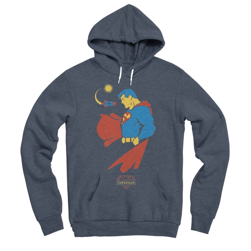 Superman - DC Superhero Profiles Men's Sponge Fleece Pullover Hoody by daab Creative's Artist Shop