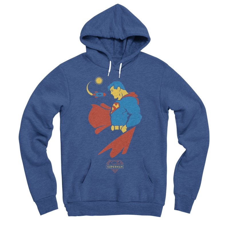 Superman - DC Superhero Profiles Men's Sponge Fleece Pullover Hoody by daab Creative's Artist Shop