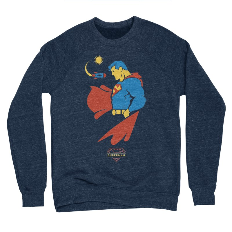 Superman - DC Superhero Profiles Men's Sponge Fleece Sweatshirt by daab Creative's Artist Shop