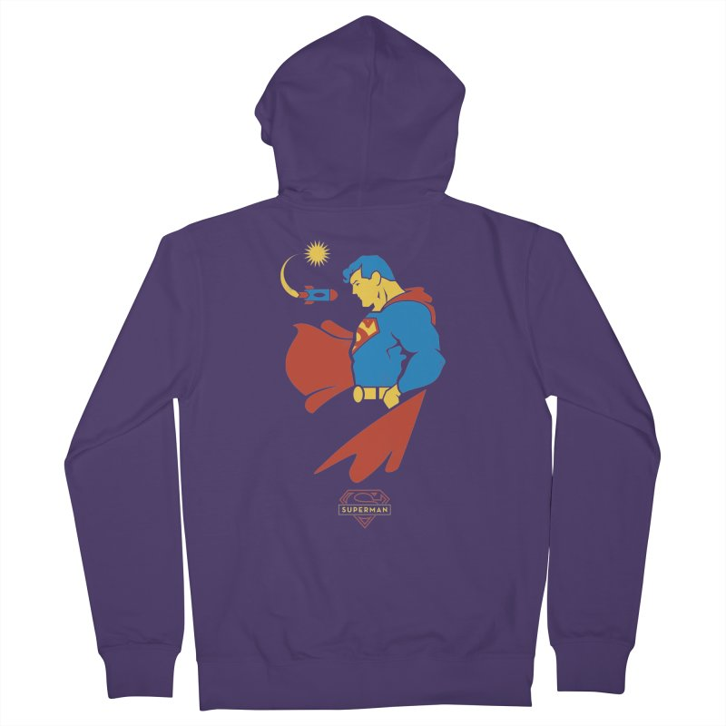Superman - DC Superhero Profiles Women's French Terry Zip-Up Hoody by daab Creative's Artist Shop